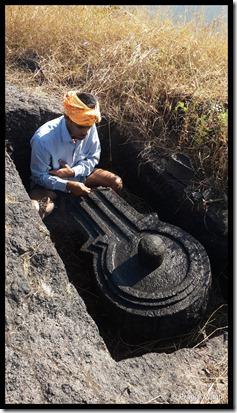 The Superb, Huge Carved ShivLing on Chandragad!